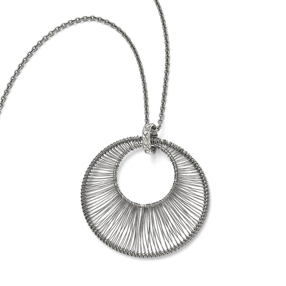 Stainless Steel Wire Circle with 2in ext. Necklace