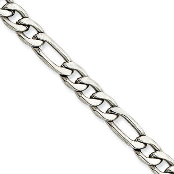 Stainless Steel 6.30MM Figaro Chain from Miles Beamon Jewelry - Miles Beamon Jewelry