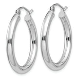 14K White Gold Hoop Earrings from Miles Beamon Jewelry - Miles Beamon Jewelry