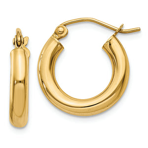 14K Yellow Gold Hoop Earrings from Miles Beamon Jewelry - Miles Beamon Jewelry