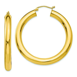 14K Yellow 5 MM Lightweight Hoop Earrings from Miles Beamon Jewelry - Miles Beamon Jewelry
