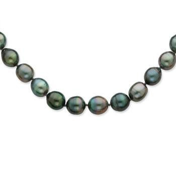 14K White Gold Saltwater Cultured Tahitian Pearl Necklace from Miles Beamon Jewelry - Miles Beamon Jewelry