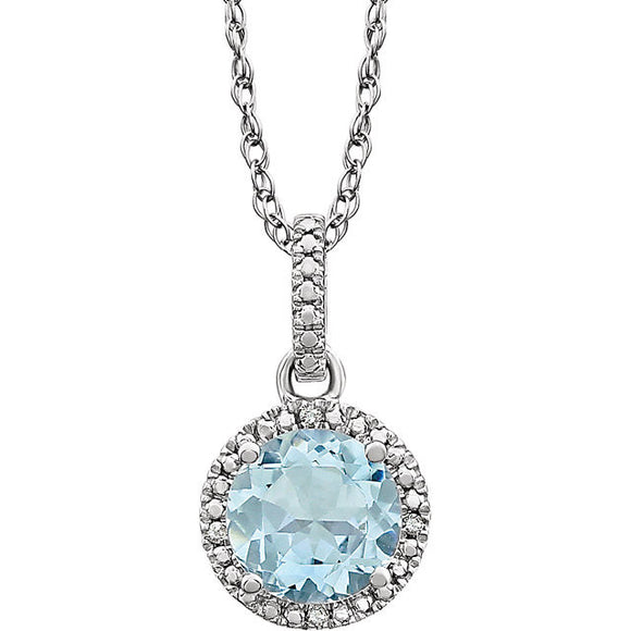 Sterling Silver Aquamarine Necklace from Miles Beamon Jewelry - Miles Beamon Jewelry
