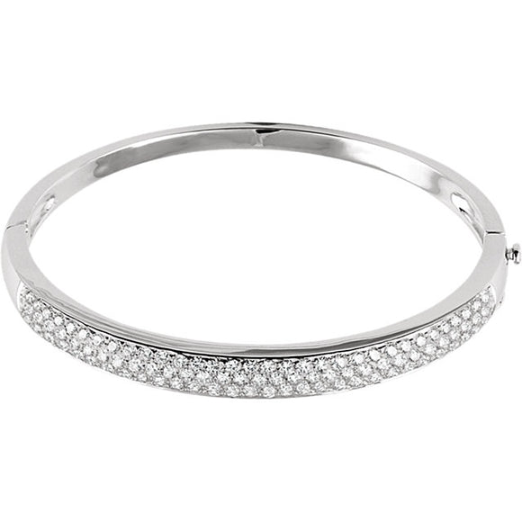 14K White Gold Diamond Pave' Bracelet