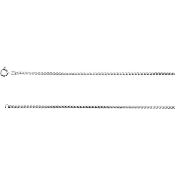 Sterling Silver 2 MM Box Chain from Miles Beamon Jewelry - Miles Beamon Jewelry