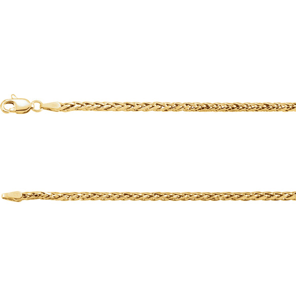 14k Yellow Gold Hollow Wheat 24
