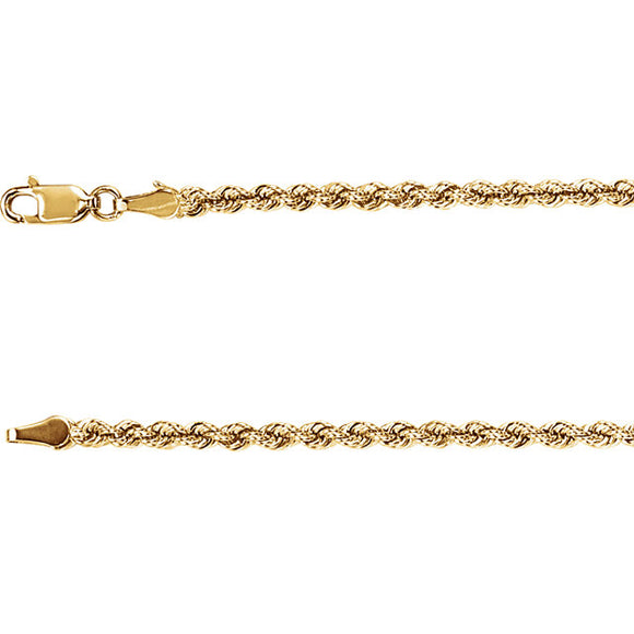 14K Yellow Gold Rope Chain 24