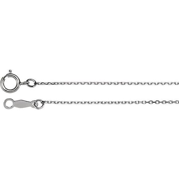 Sterling Silver Diamond-Cut Cable Chain Necklace from Miles Beamon Jewelry - Miles Beamon Jewelry