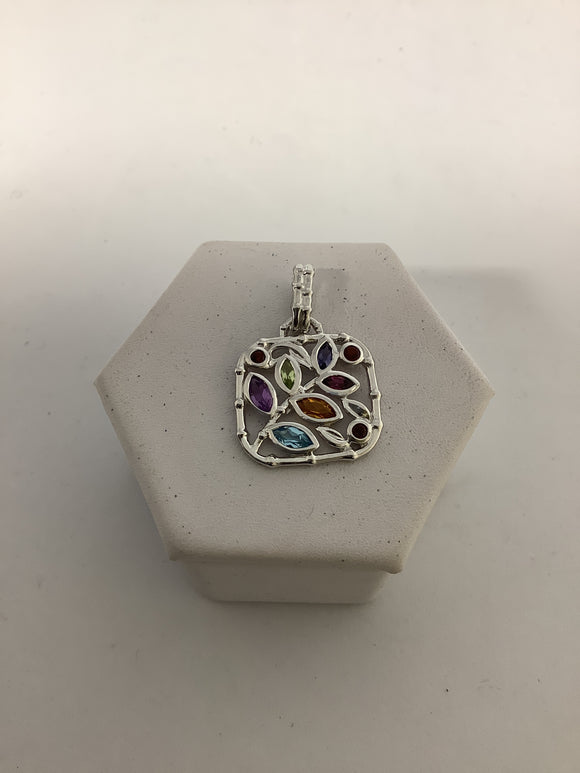 STERLING SILVER STACKABLE EXPRESSIONS GEMSTONE PENDANT