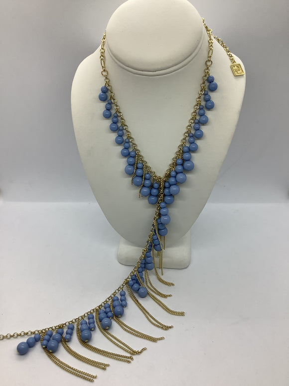 Beaded V- Neck Necklace