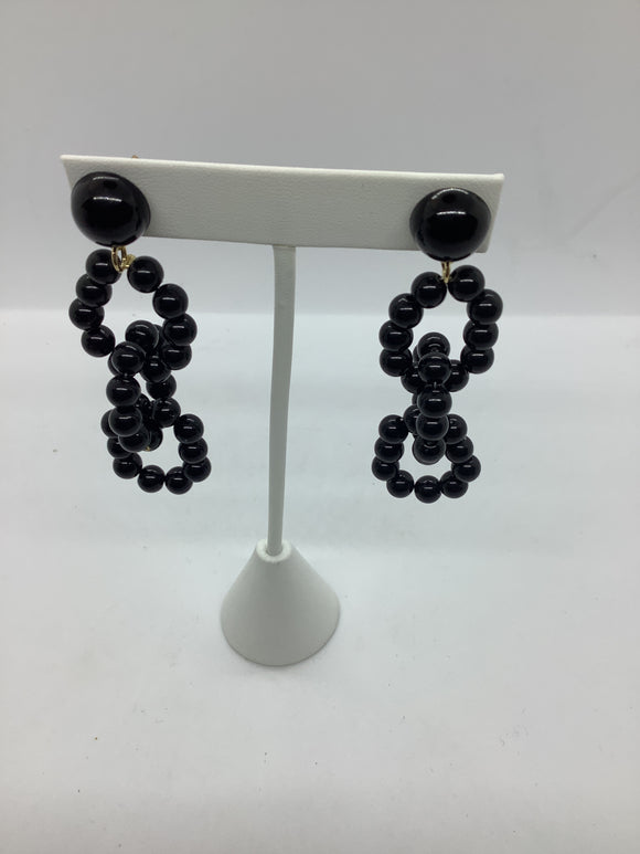 Fashion Black Drop Earring
