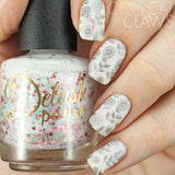 Enchanted - DP01 Nail Stamping Plate - Delush Polish - 15
