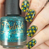 Enchanted - DP01 Nail Stamping Plate - Delush Polish - 14