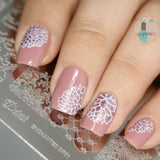 Enchanted - DP01 Nail Stamping Plate - Delush Polish - 4