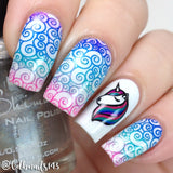Unicorn Sparkle - DP07 Stamping Plate