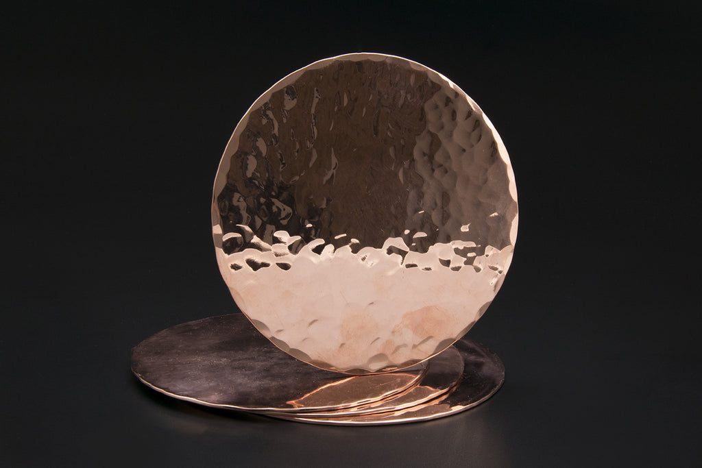 Copper Coasters set of 4