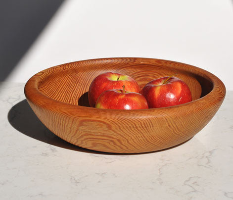 Southern Old Growth Reclaimed Heart Pine Centerpiece Bowl