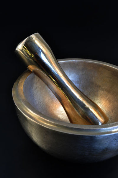 Brushed Austere Bronze Mortar and Pestle