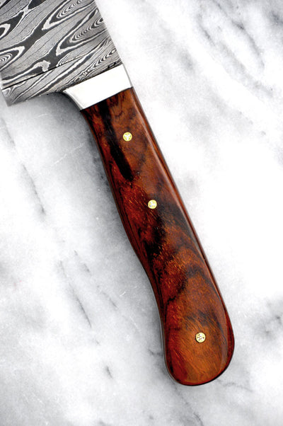 Hammered Damascus Chef Knife