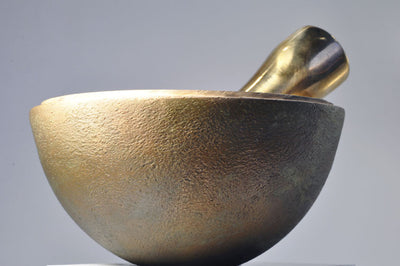Planetary Surface Bronze Mortar and Pestle