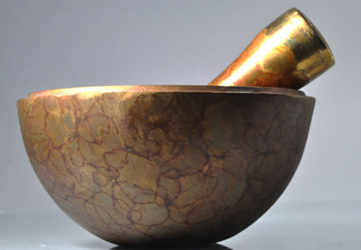 Fountain Paint Bronze Mortar and Pestle