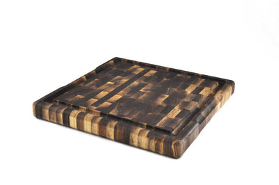 Square Walnut End Grain Butcher Block 16 x 16 x 1.75