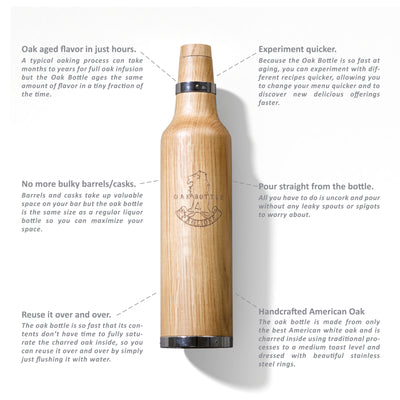 Handcrafted Oak Bottle Aging Vessel