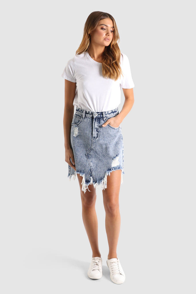 Jaymee Denim Skirt | Acid