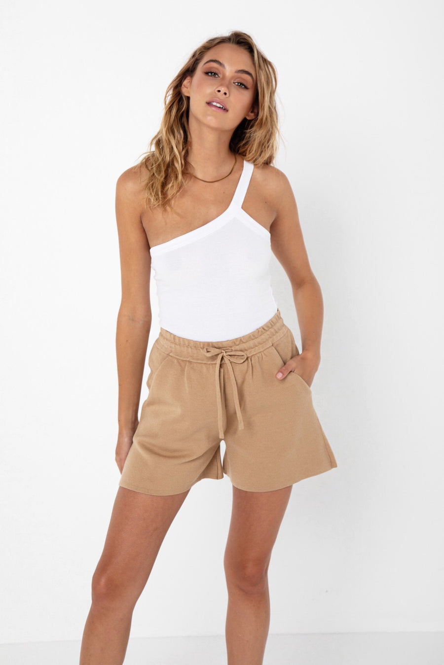 Ivana Knit Short | Camel