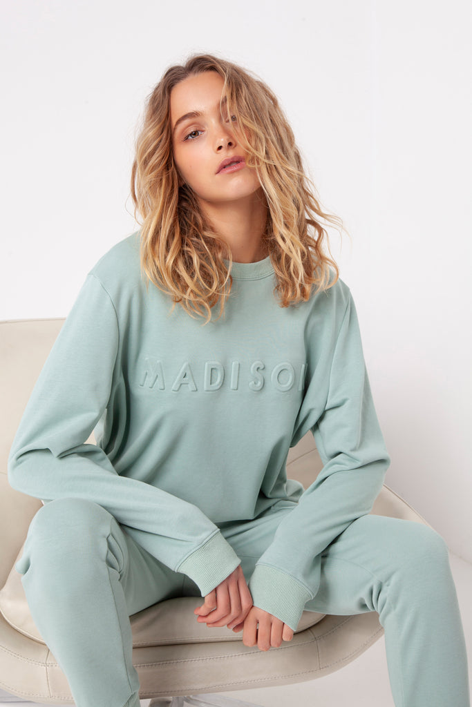 Madison Embossed Sweater | Sage