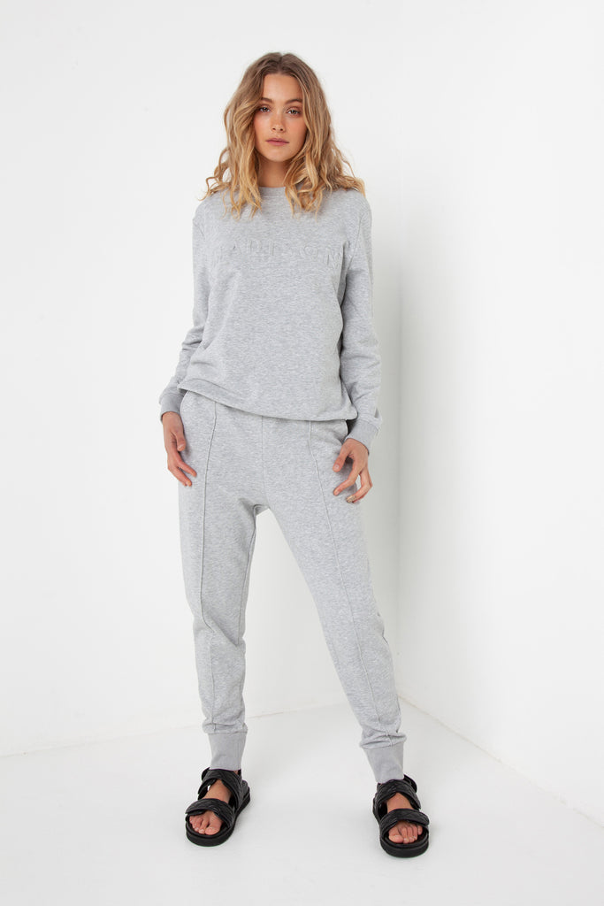 Madison Embossed Sweater | Grey