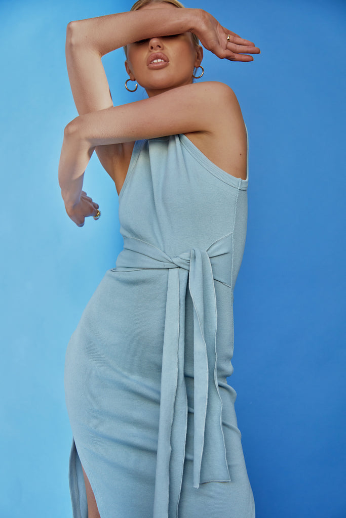 PRE ORDER: Ange Midi Dress | Blue