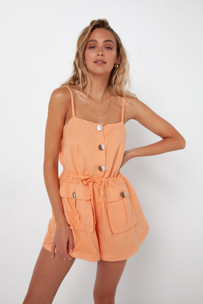 Penny Playsuit | Apricot