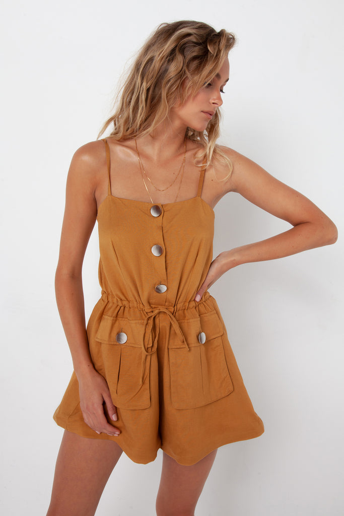 Penny Playsuit | Camel