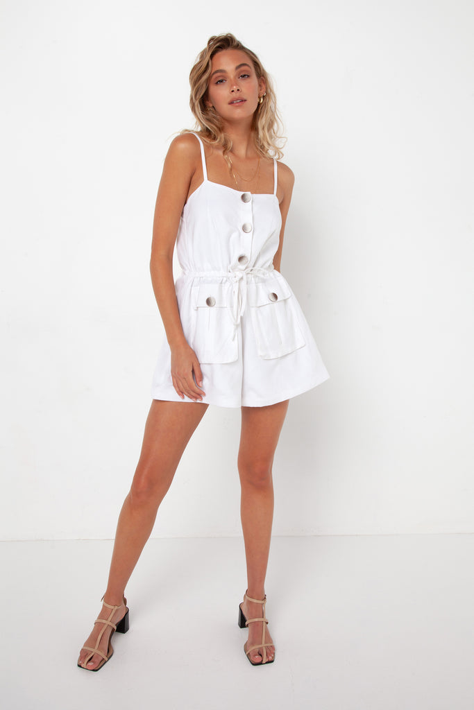 Penny Playsuit | White