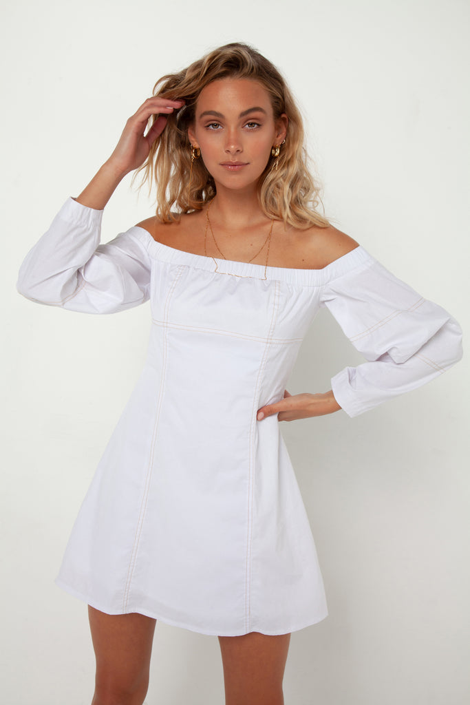 Narah Dress | White