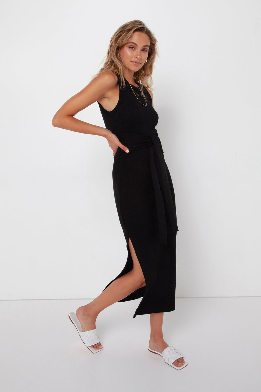 Ange Midi Dress | Black