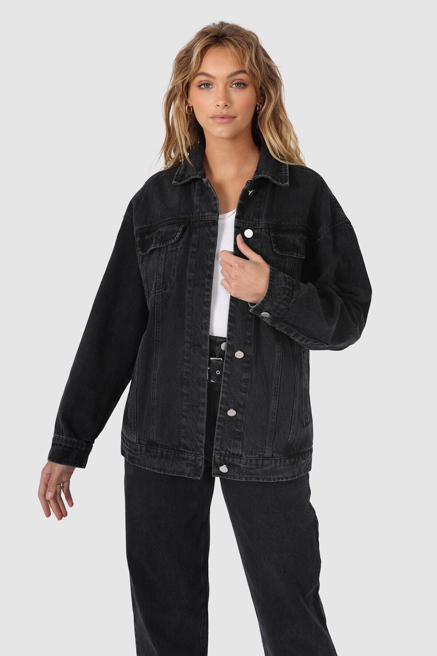Skye Denim Jacket | Washed Black Denim