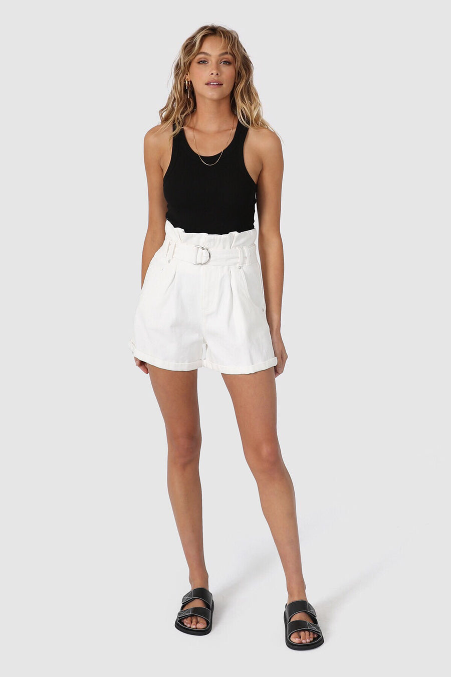 Michelle Shorts | White Denim