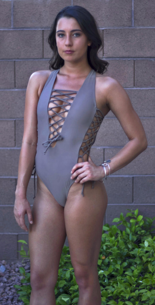 """Tied Up"" One Piece Swimsuit"