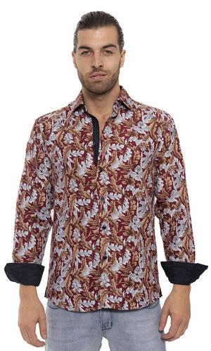 SS192-114L BLACK MULTI PRINTED LONG SLEEVE SHIRT 6PK