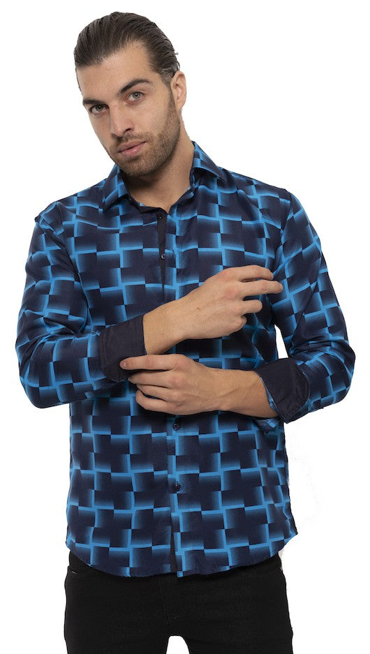 SS192-142L BLACK MULTI PRINTED LONG SLEEVE SHIRT 6PK