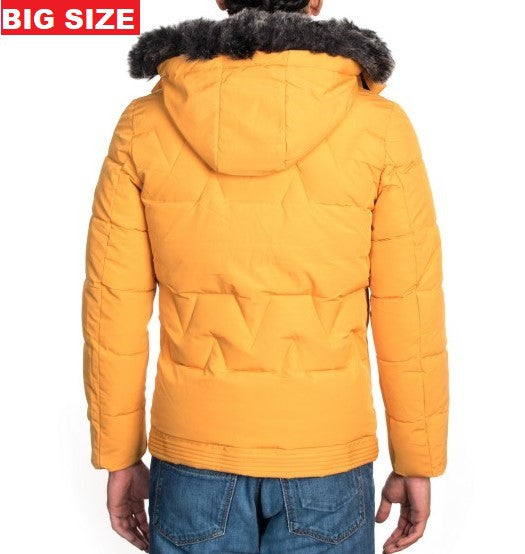 VPJ-05B BIG SIZE CAMEL MENS PUFF JACKET WITH DETACHABLE HOOD 5PK