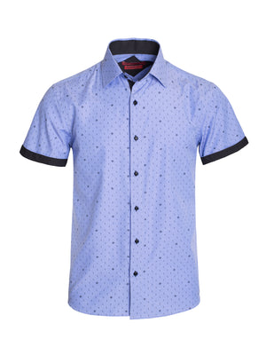 AB191-18S BLUE SHORT SLEEVE SHIRT 6PK