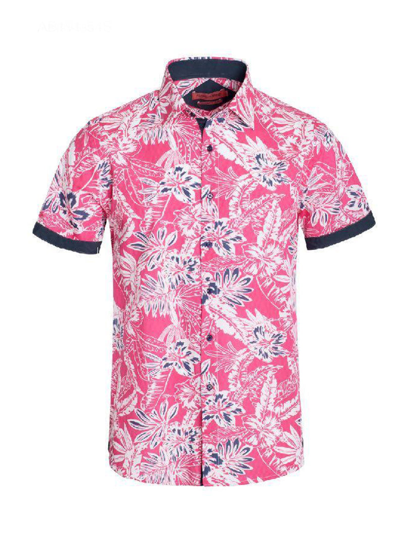 AB191-54S  MEN'S PINK SHORT SLEEVE SHIRT 6PK