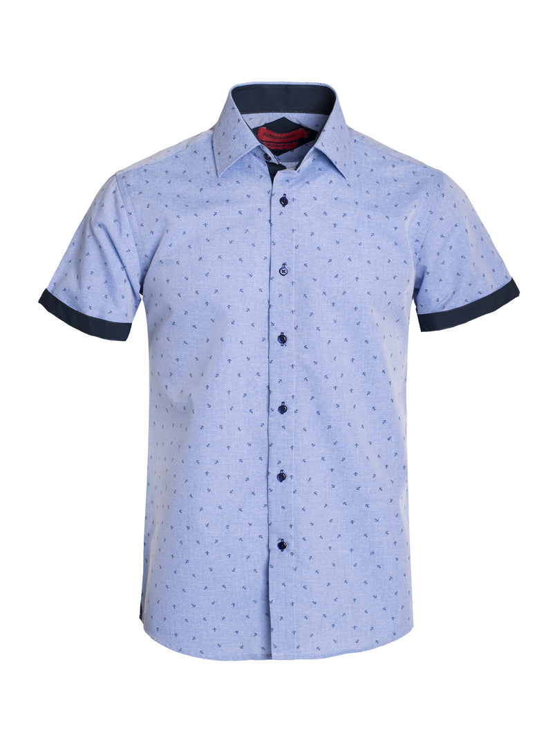 AB191-69S  BLUE SHORT SLEEVE SHIRT 6PK