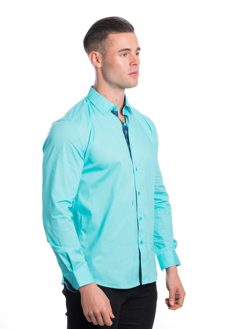 ABLK-2020-MINT  SOLID STRETCH SHIRT 6PK