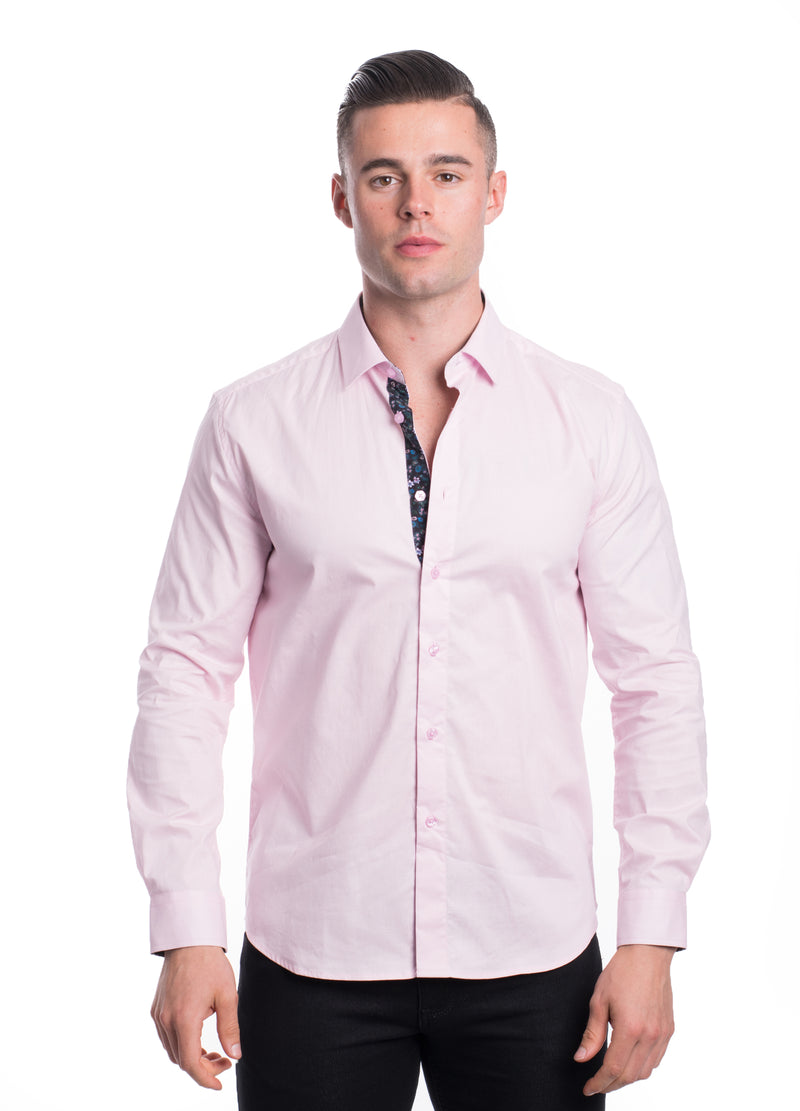 ABLK-2020-PINK  SOLID STRETCH SHIRT 6PK