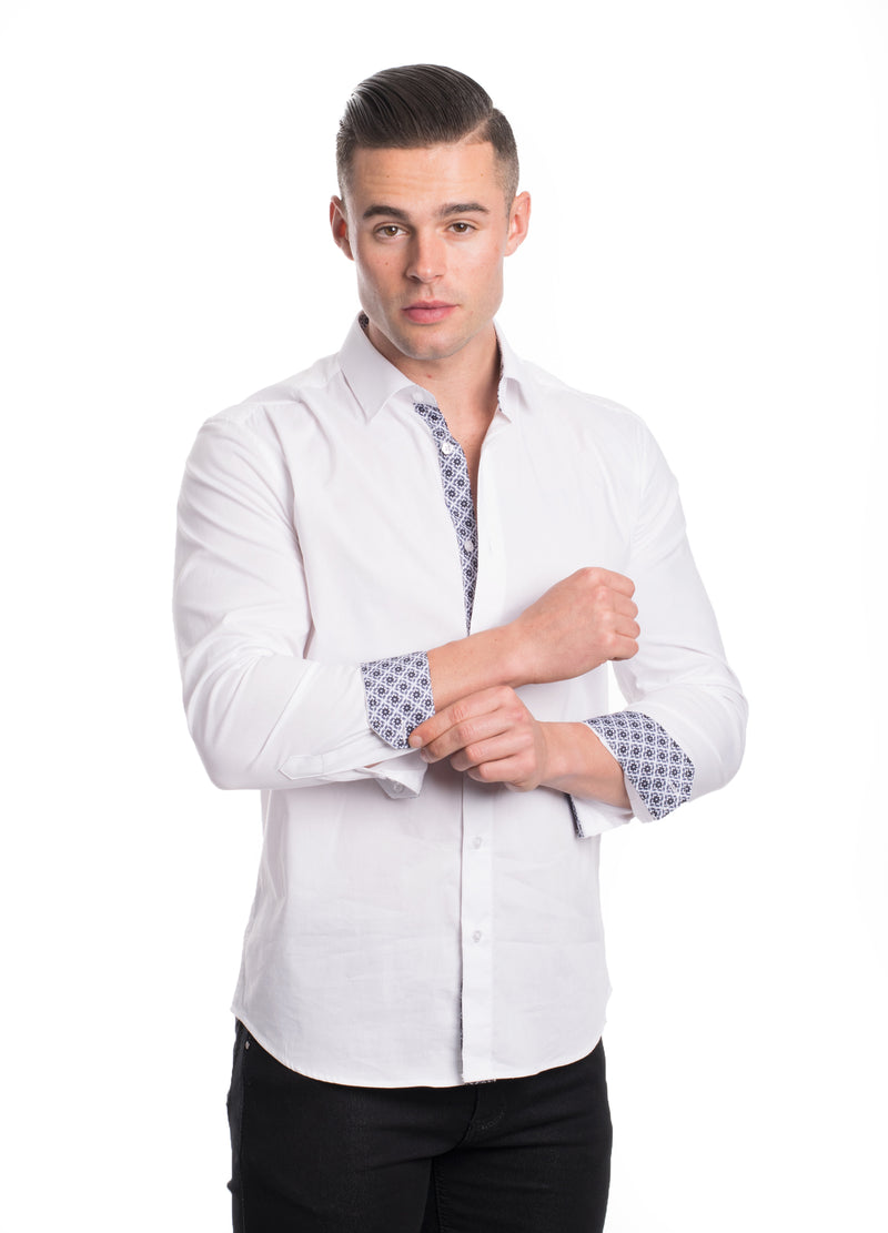 ABLK-2020-WHITE  SOLID STRETCH SHIRT 6PK