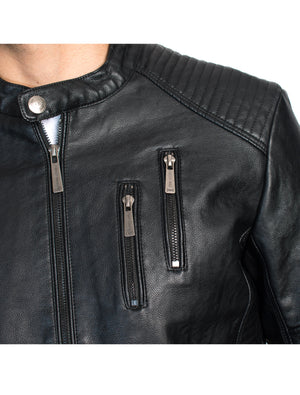 ABPF-18 BLACK PLEATHER JACKET 6PK